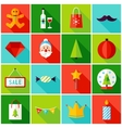 Merry Christmas Colorful Icons vector image vector image