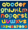 motley colorful cartoon font vector image vector image