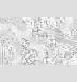 neutral gray mempis design background vector image vector image