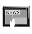 news on a tablet vector image vector image