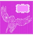 Pink backdrop with pegasus vector image