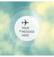Round with Place for Text with Airplane vector image vector image