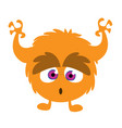 scary cartoon monster vector image vector image