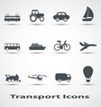set icons transport vector image