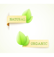 set of two paper labels vector image vector image