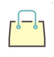 shopping bag icon design for shopping graphic vector image