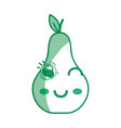 silhouette kawaii cute funny pear fruit vector image vector image