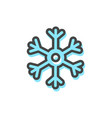 snowflake christmas icon vector image