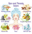 spa salon composition vector image vector image