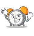 successful alarm clock character cartoon vector image