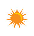 sun icon - sunligth sign symbol flat vector image vector image