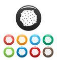top view hamburger icons set color vector image vector image
