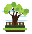 view of a park with a bench vector image vector image