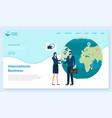 website landing page template international vector image