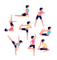 yoga workout female stretching exercises sport vector image