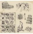 Italy set design elements vector image
