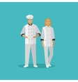 Cooking chefs characters in vector image
