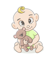 little boy with a toy vector image