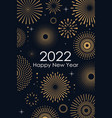 2022 new year abstract background with gold vector image vector image
