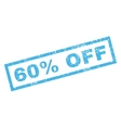 60 Percent Off Rubber Stamp vector image vector image