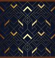 abstract geometric pattern luxury dark blue vector image vector image