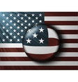 american flag with rays vector image vector image