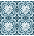 Arabic Blue Seamless Pattern with bird Phoenix vector image