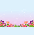 background design template with colorful flowers