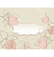 background with flowers vintage style vector image vector image