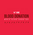 banner style for blood donor day vector image vector image