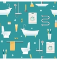 Bathroom Seamless Pattern vector image