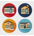 beautiful mansion isolated icon design vector image vector image