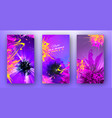 bright multicolored templates for night party vector image vector image