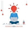 BUSINESS IDEA CREATION vector image vector image