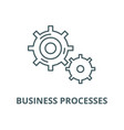 business processes line icon linear vector image vector image