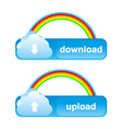 buttons download upload vector image