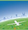 cambridge skyline flight destination vector image