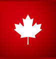 canadian maple leaf icon canada symbol maple leaf vector image vector image