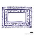 Carpet frame vector image vector image