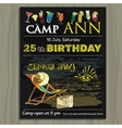 chalk board invitation for birthday holiday in vector image vector image