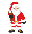 Christmas Santa Claus with Sack vector image vector image