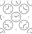 Clock icon pattern vector image vector image