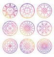 colorful esoteric geometric pentagrams vector image vector image