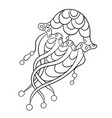 coloring page with jellyfish in ornamnets in vector image vector image