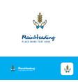 creative crops in hands logo design flat color vector image