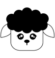 cute sheep cartoon icon vector image