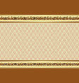 decorative background with golden ornament and vector image vector image