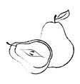 delicious pear fruit vector image