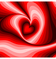Design heart whirl rotation background vector image vector image