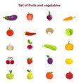 different fruits and vector image vector image